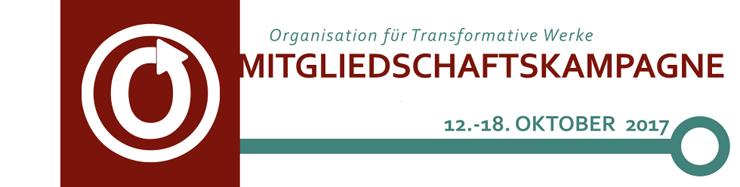 Organisation für Transformative Werke Mitgliedschaftskampagne, 12. - 18. Oktober 2017