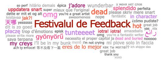 Bulă de limbaj cu fraze de feedback în limbaje multiple